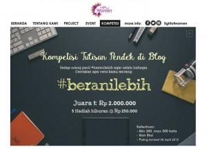 Tulisan ini diikutsertakan dalam Kompetisi Blog #BeraniLebih