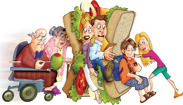 sandwich generatioan