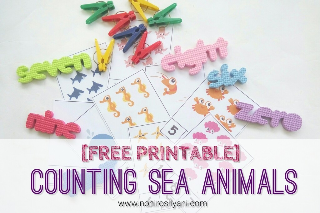 [Free Printable] DIY: Counting Sea Animals