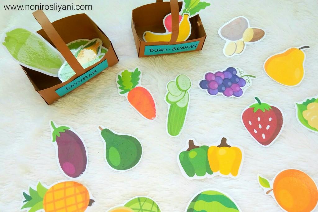 free printable mengenal buah dan sayur