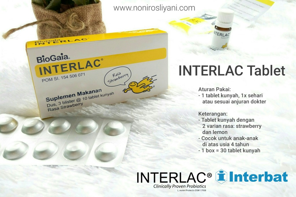 aturan pakai dan kegunaan interlac tablet