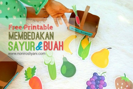 picture relating to Printable Image known as No cost Printable: Membedakan Sayur dan Buah